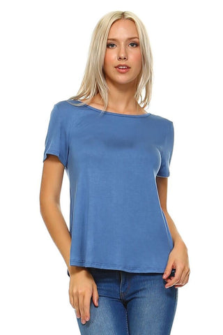 Cross It Out Short Sleeve Top