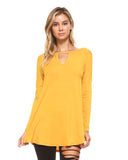 mustard tunic tops for women spring 2019