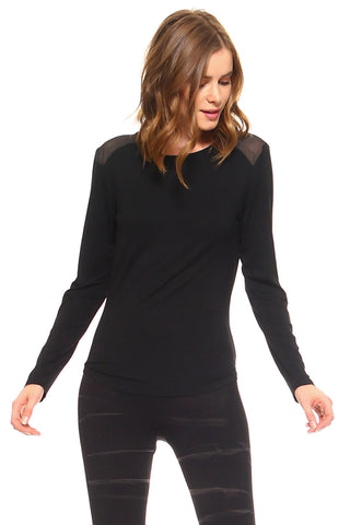 Show Some Mesh Long Sleeve Knit Top