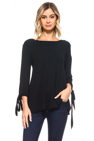 Forever Busy Round Hem Tunic Top