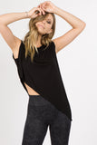 black yoga tops for women