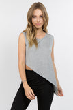 heather grey sleeveless tank tops for women workout