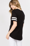 black short sleeve oversized t-shirt