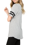 grey striped oversized t-shirt