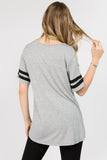 light grey short sleeve tee for women