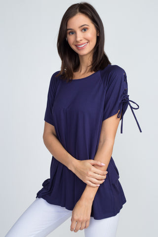 Daniella Short Sleeve Chiffon Ruffle Top