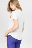 Active Short Sleeve Surplice Front Top