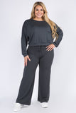 Plus Size Comfy 2 Piece Loungewear Set