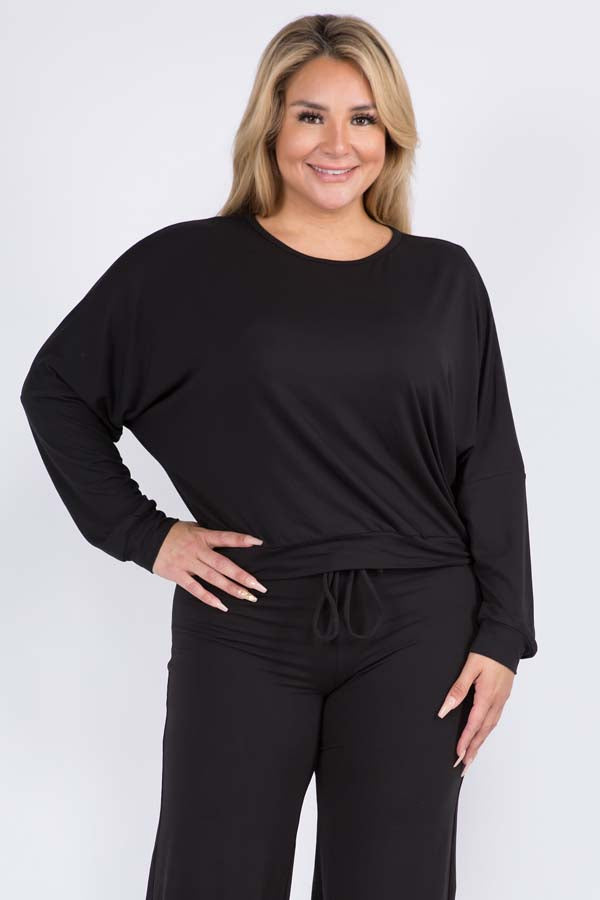 Plus Size Comfy Long Sleeve Top
