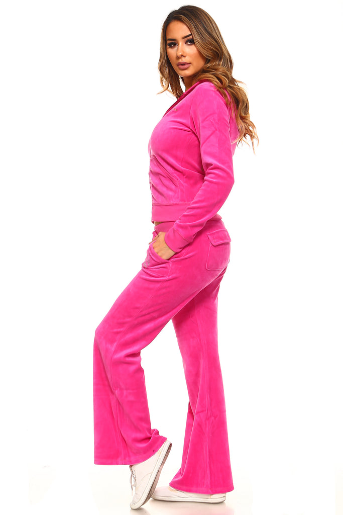 Viva La Diva Velour 2-Piece Matching Set