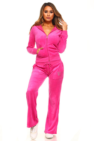 Viva La Diva Velour 2-Piece Sweat Set
