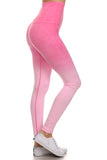 hot pink ombre leggings