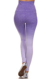 purple ombre workout leggings