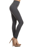 grey high waisted layering leggings