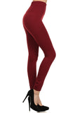 red seamless compression leggings