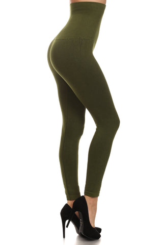 Empire Waist Tummy Compression Control Top Leggings