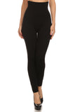 black cotton seamless compression leggings