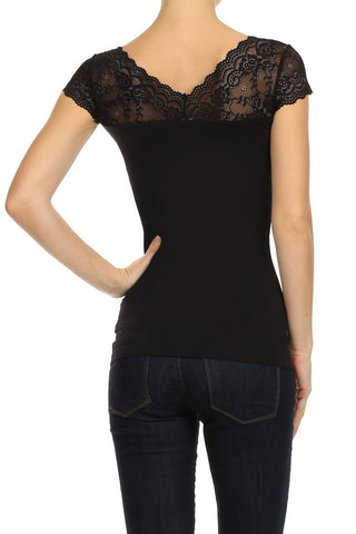 Alexi Black Lace Top