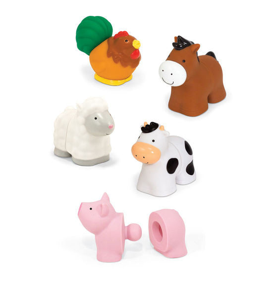 Melissa and Doug Pop Blocs Farm Animals Learning Toy