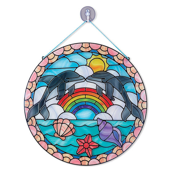 Melissa & Doug Stained Glass Made Easy - Dolphins