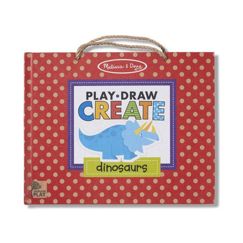 Melissa & Doug  Natural Play: Play, Draw, Create Reusable Drawing & Magnet Kit - Dinosaurs