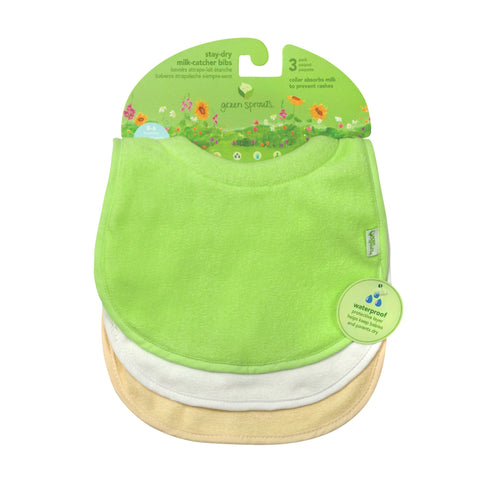 Green Sprouts Stay-dry Milk-catcher Bibs (3 pack)