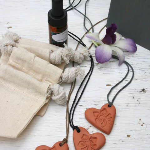 Heart Terra Cotta Diffuser Pendant/Necklace
