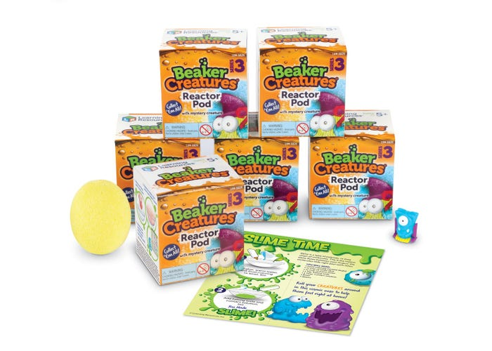 Learning Resources Beaker Creatures 6-Pack Reactor Pods, Series 3