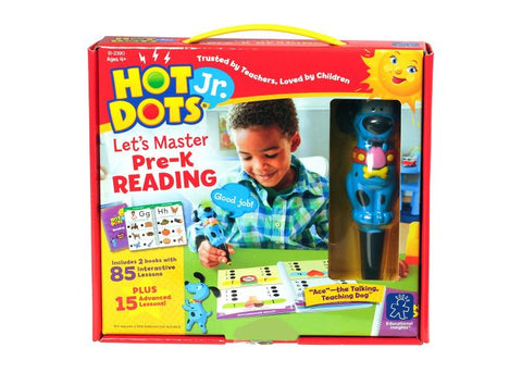 Educational Insights Hot Dots Jr. Let's Master Pre-K Reading Set with Ace—The Talking, Teaching Dog Pen