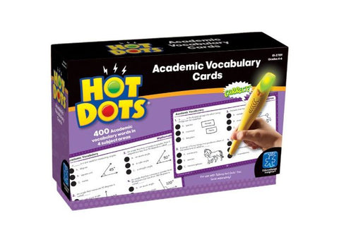 Educational Insights Hot Dots Academic Vocabulary Card Set — Grades 4-6