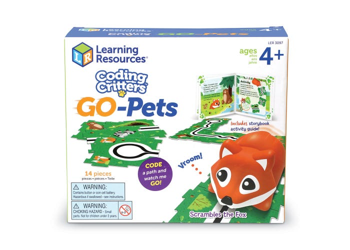 Learning Resources Coding Critters Go-Pets: Scrambles the Fox