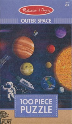 Melissa & Doug Natural Play Puzzle- Outer Space 100 pieces