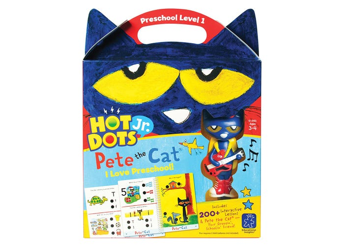 Educational Insights Hot Dots® Jr. Pete the Cat® I Love Preschool! Set with Pete the Cat®—Your Groovin', Schoolin', Friend Pen