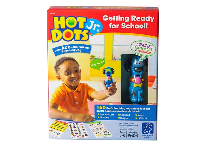 Educational Insights Hot Dots Getting Ready for School! Set with Ace— The Talking, Teaching Dog Pen