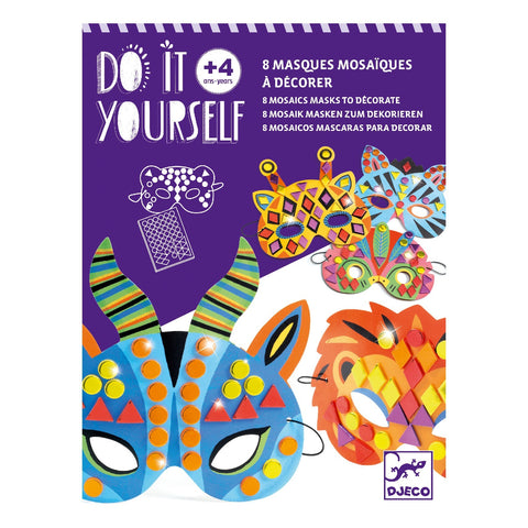 DJECO Do It Yourself Mosaic Masks To Decorate