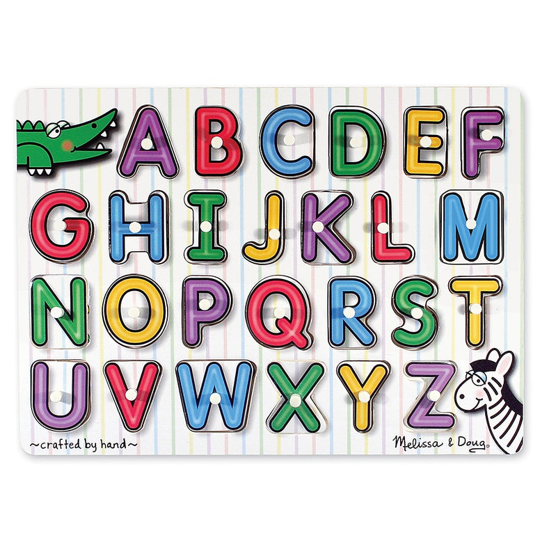 Melissa & Doug Lift and See Alphabet Peg Puzzle