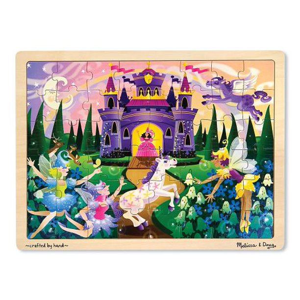 Melissa & Doug Fairy Fantasy- Wooden Jigsaw Puzzle 48 Pieces