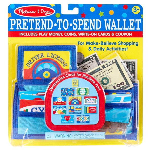 Melissa & Doug Pretend to Spend Wallet