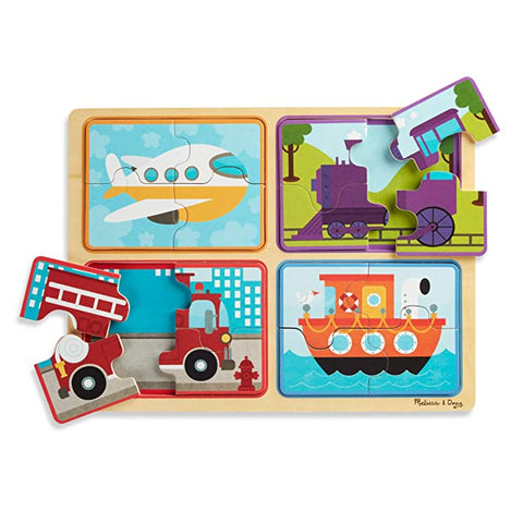 Melissa & Doug Natural Play Wooden Puzzle - Ready, Set, Go