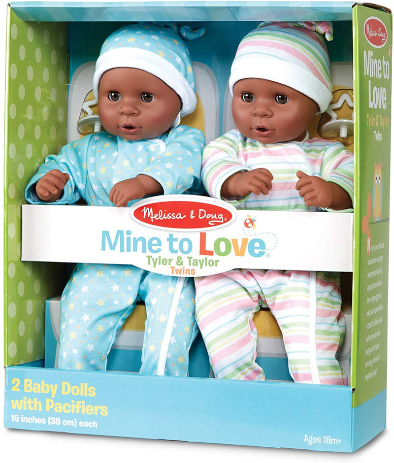 Melissa & Doug Mine to Love Tyler & Taylor Dolls