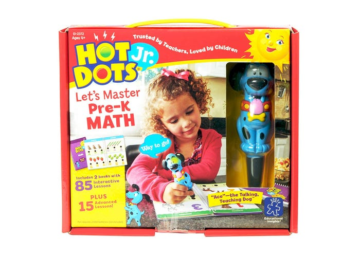 Hot Dots® Jr. Let's Master Pre-K Math Set with Ace—The Talking, Teaching Dog® Pen