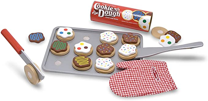 Melissa & Doug Slice & Bake Cookie Set- Wooden Play Food