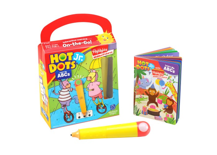 Educational Insights Hot Dots Jr. Highlights On-The-Go Learn My ABCs with Highlights