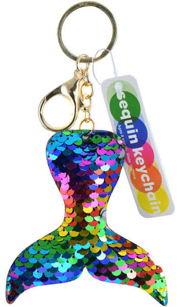 The Toy Network Flip Sequin Mermaid Tail Keychain