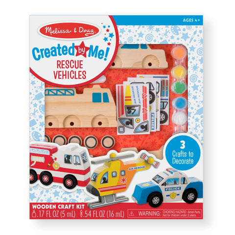 Melissa & Doug Created By Me Rescue Vehicles