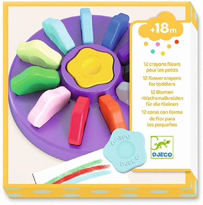 DJECO Small Flower Crayons -12 Colors
