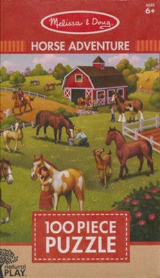 Melissa & Doug Natural Play Puzzle: Horse Adventure-100 pieces