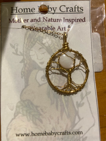 Home Baby Crafts Sapling Under the Moon Necklace