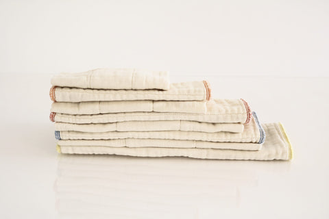 Luludew Unbleached Prefold Cloth Diapers