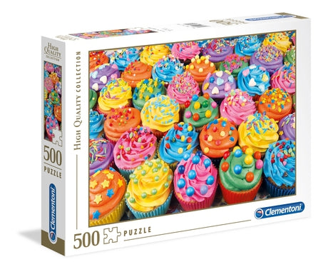 Clementoni Colorful Cupcakes - 500 pcs - High Quality Collection